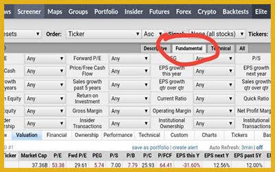 скринер акций онлайн